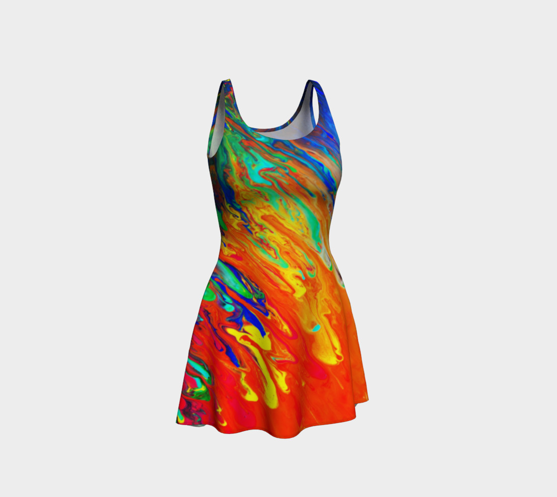Abstract Flow Flare Dress by GearX Miniature #2