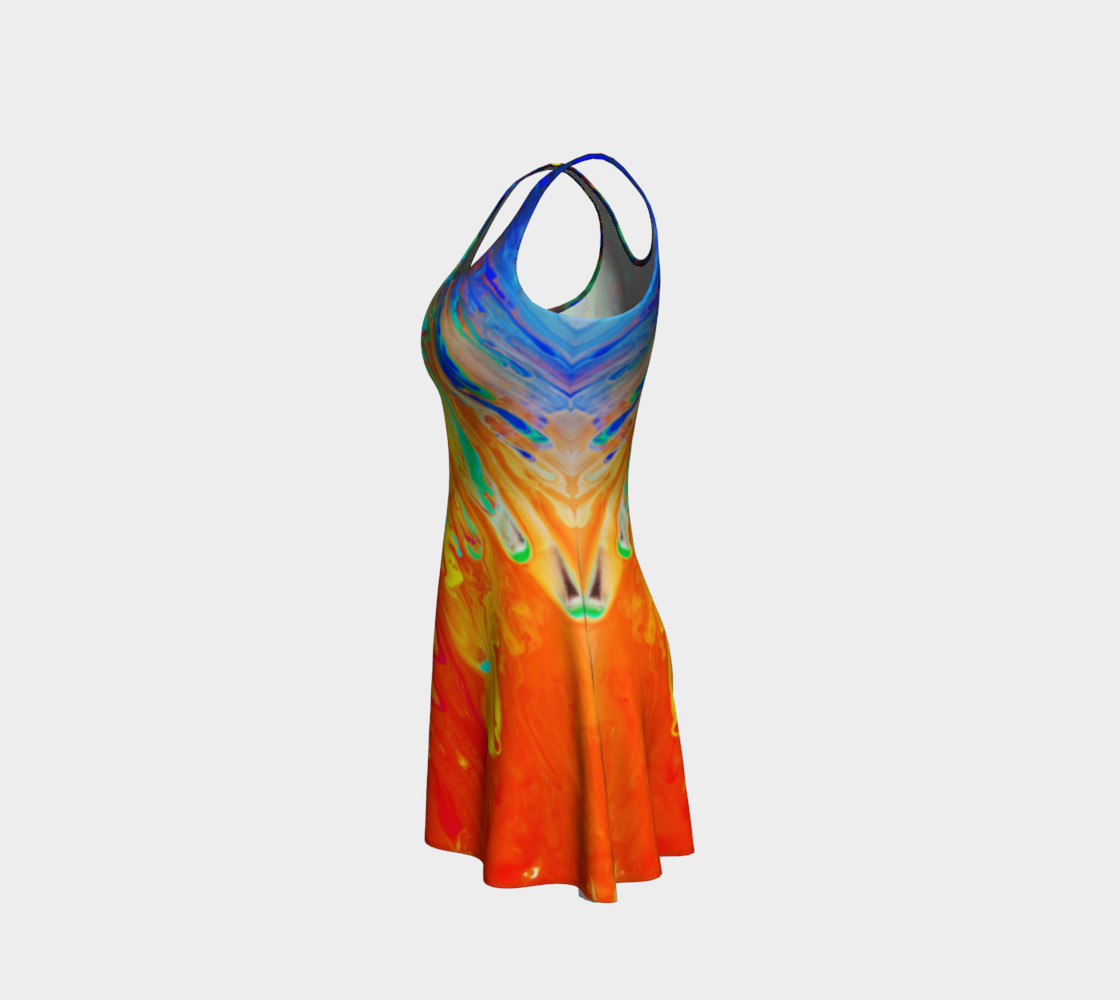 Abstract Flow Flare Dress by GearX Miniature #3