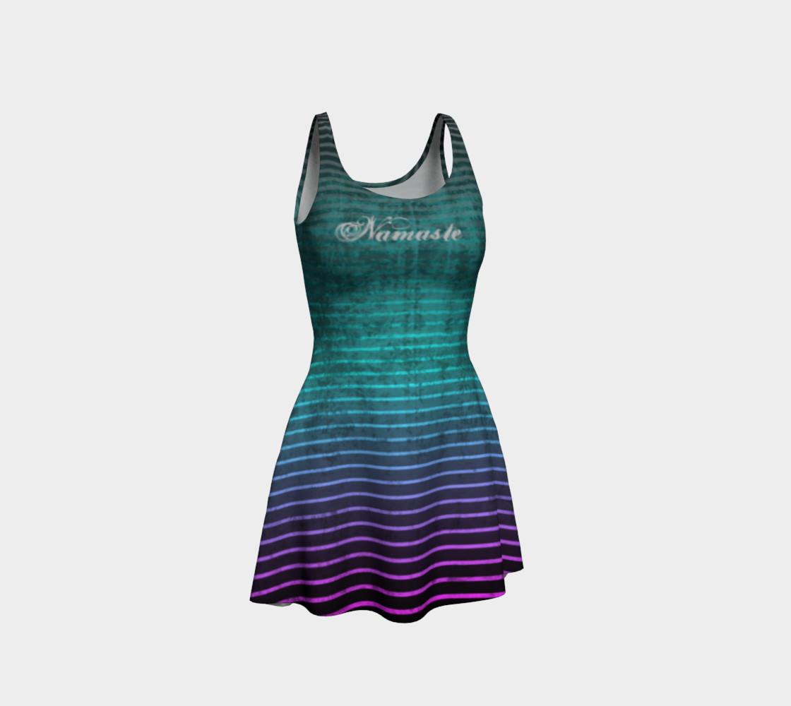 Umsted Design Namaste Distressed Striped Flare Dress preview #1