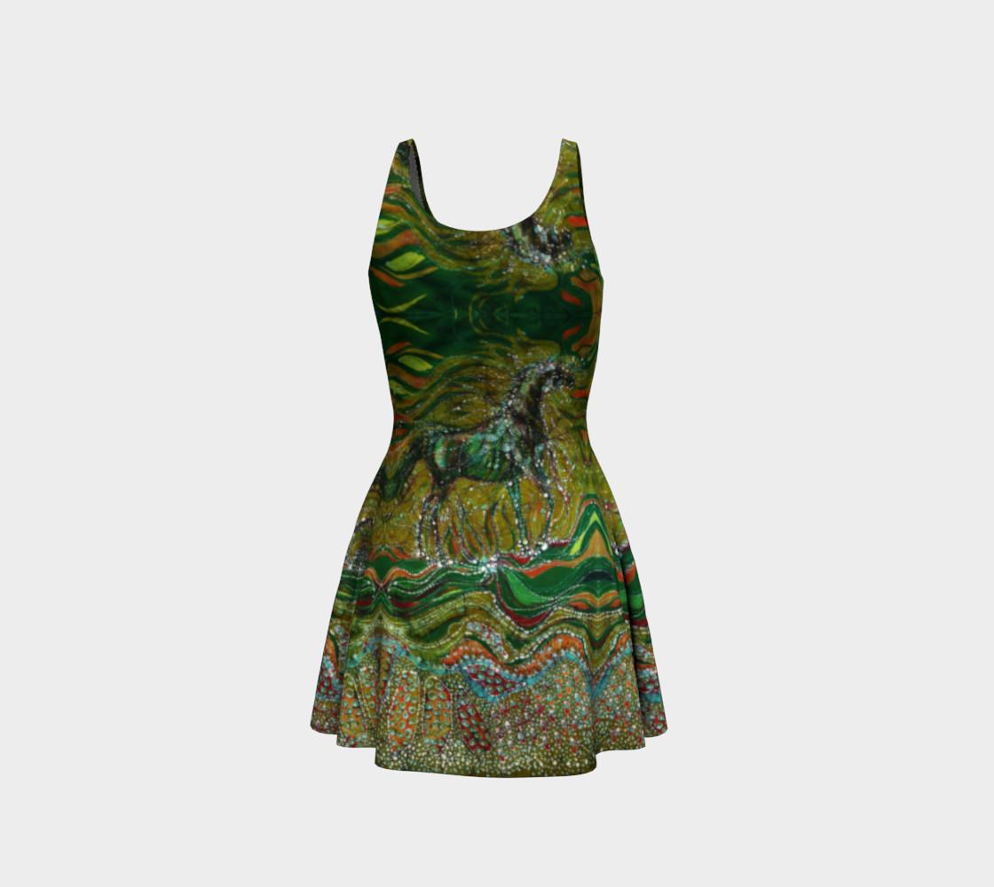 Green Horse Dress preview #3