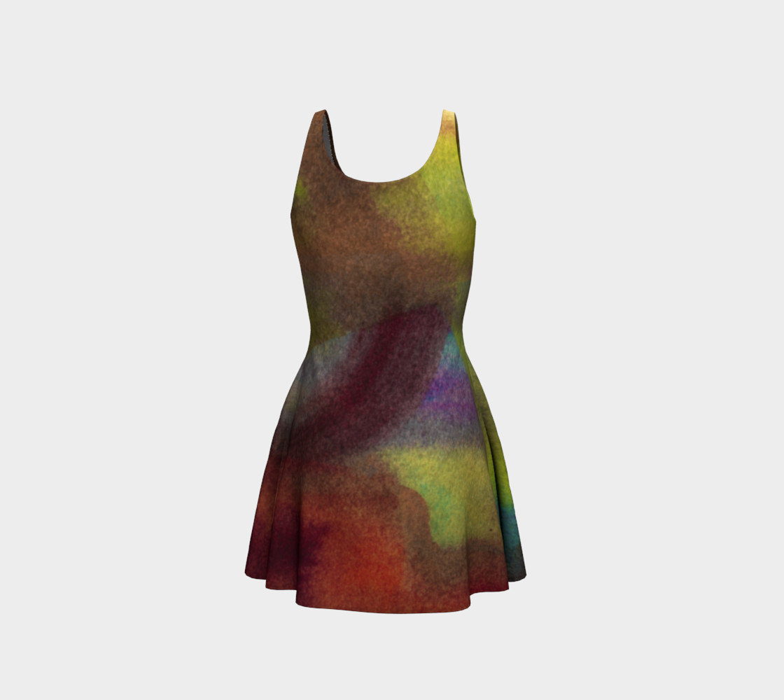 Tropical Watercolor Dress preview #3