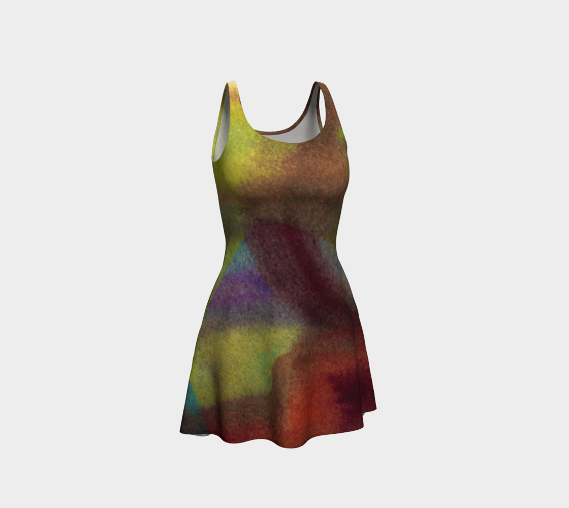 Tropical Watercolor Dress preview #1