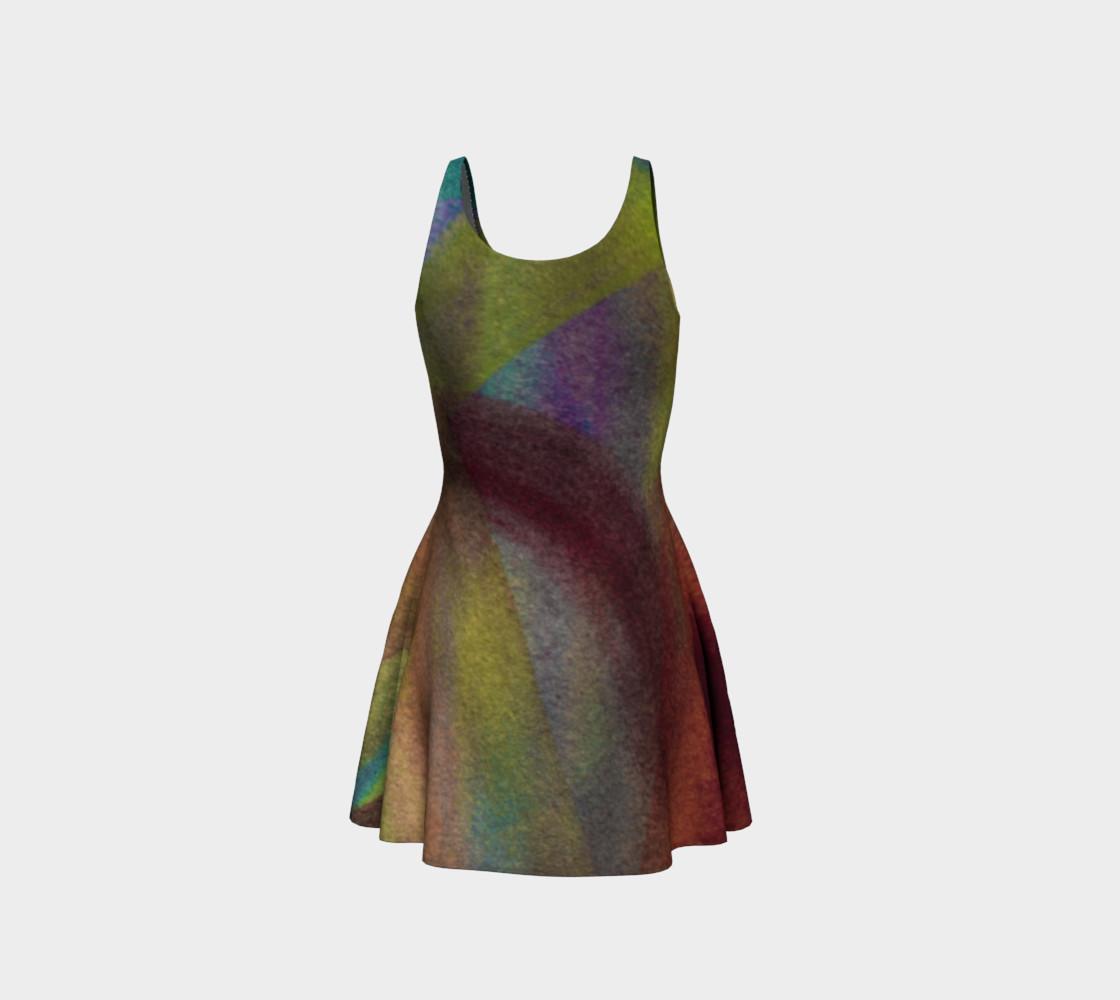 Tropical Watercolor Reverse Dress preview #3