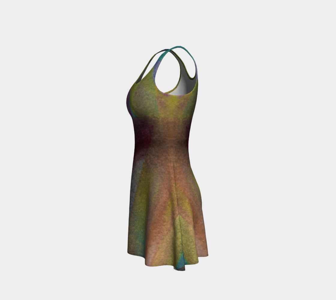 Tropical Watercolor Reverse Dress preview #2