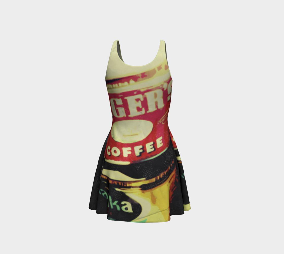 Aperçu de Vintage Coffee Time Flare Dress #3
