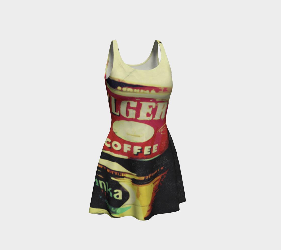 Aperçu de Vintage Coffee Time Flare Dress #1