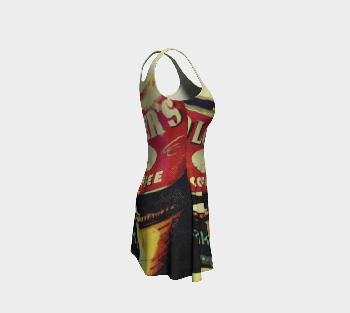 Aperçu de Vintage Coffee Time Flare Dress #4