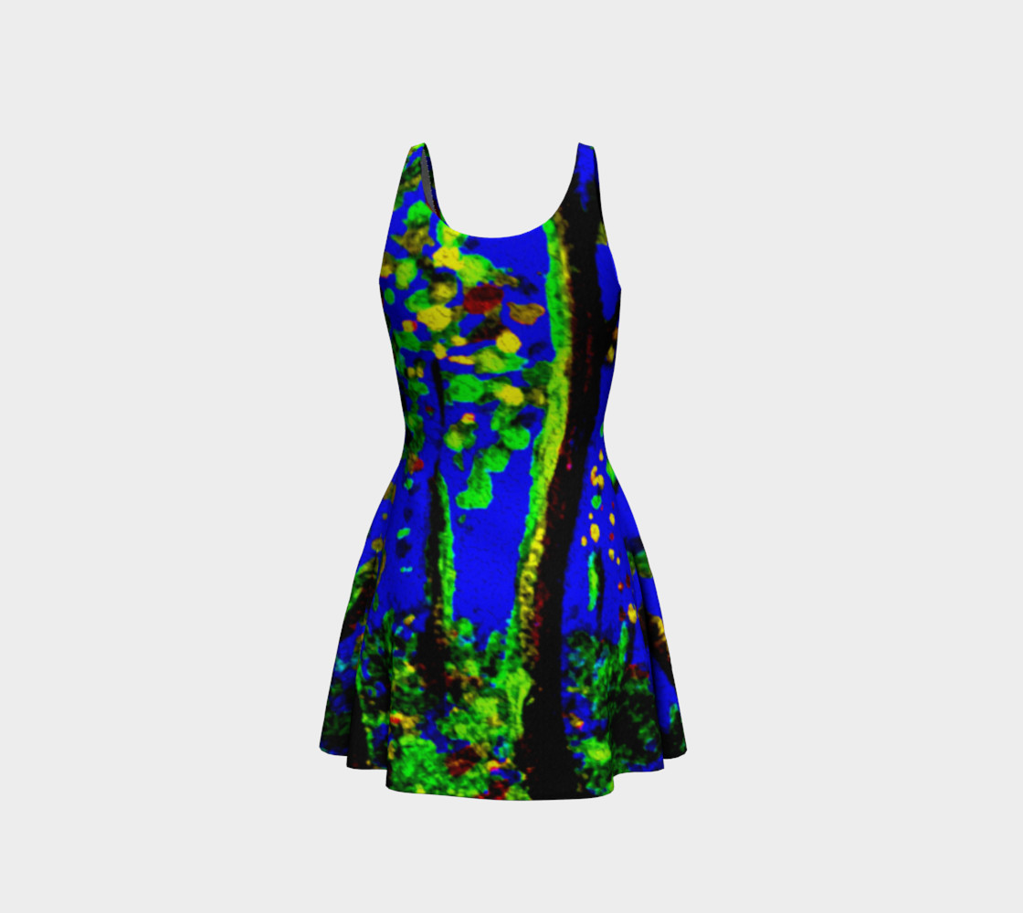 Magic Trees at Midnight Flare Dress preview #3