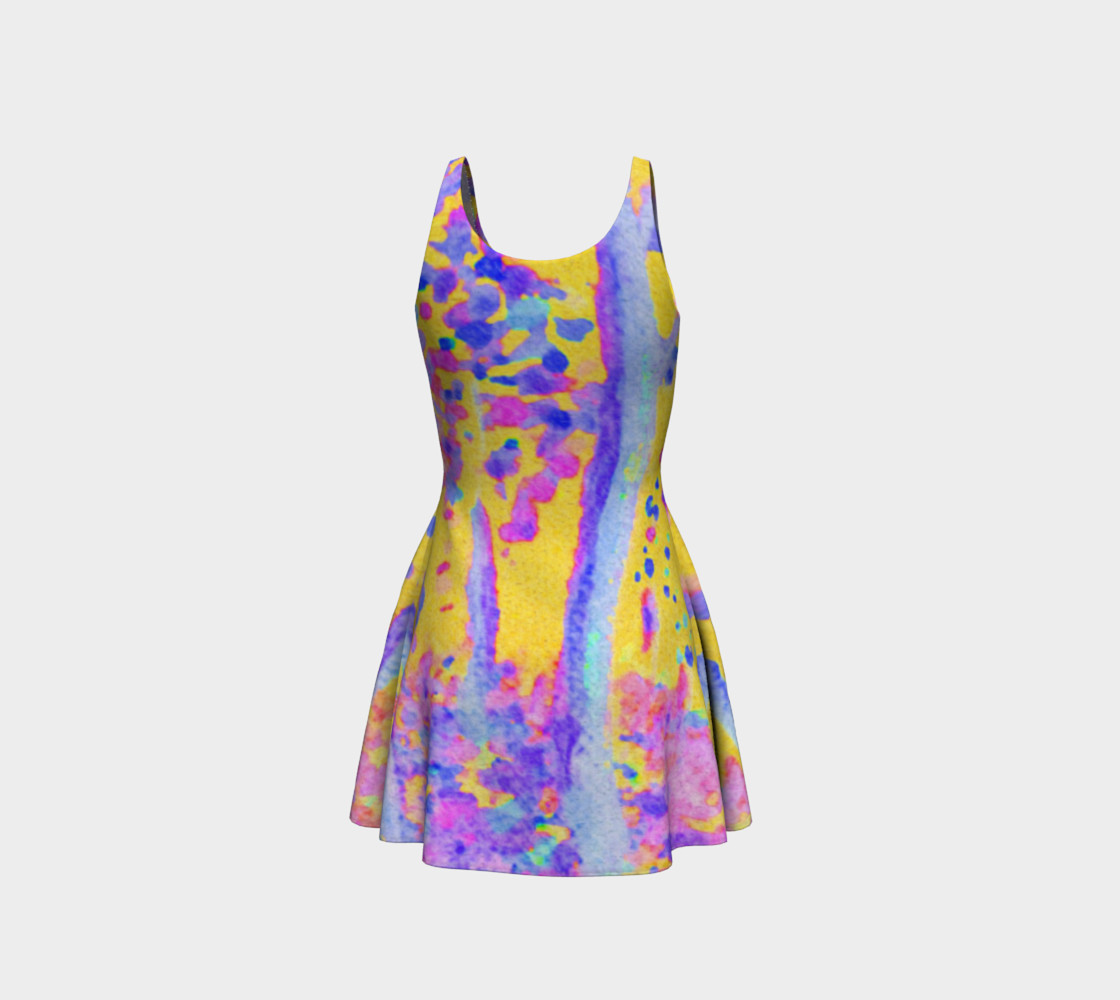 Yellow Magic Trees Flare Dress preview #3