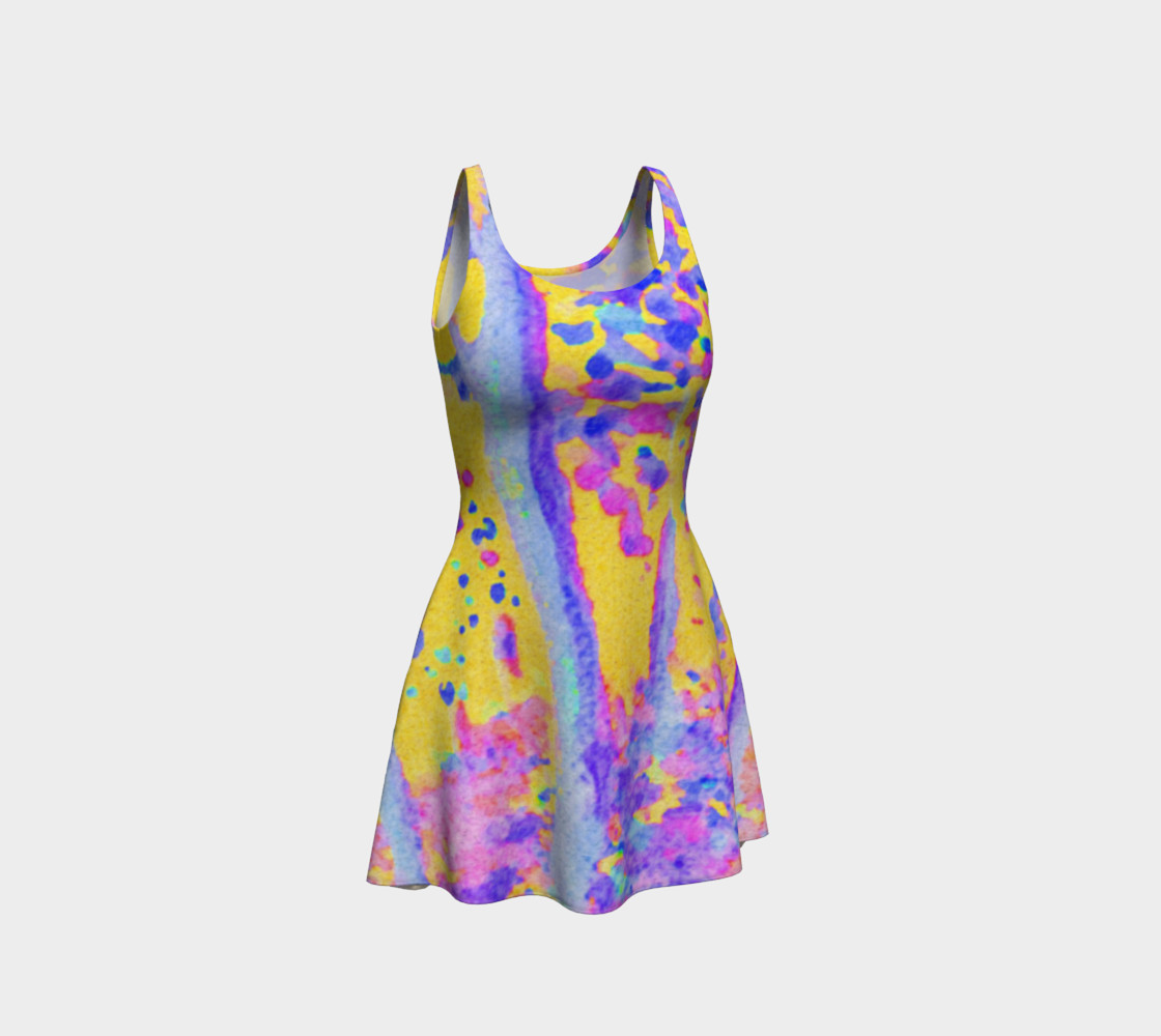 Yellow Magic Trees Flare Dress preview #1