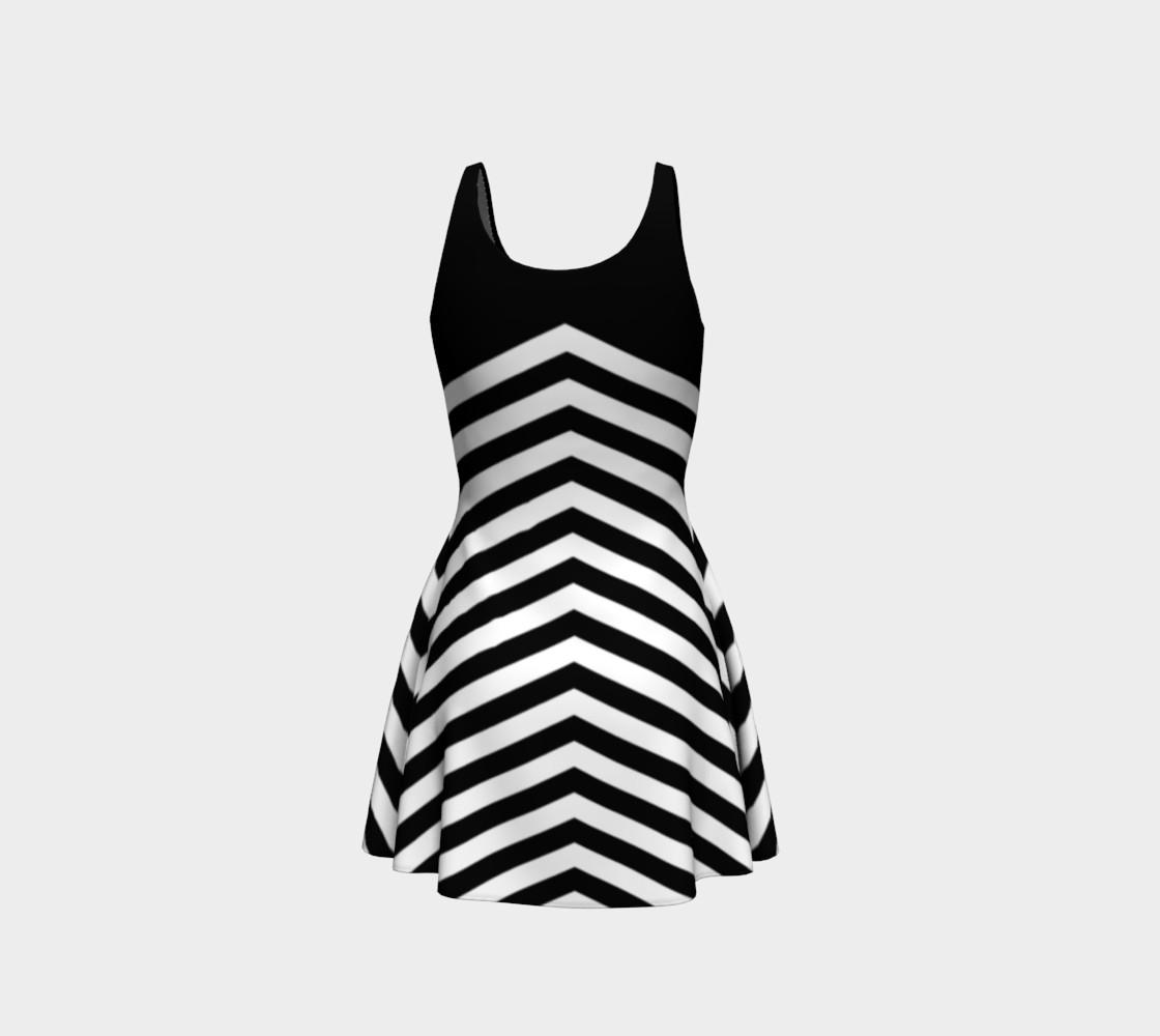 Aperçu de Stripes Collection - Triangle Stripes - Black & White #3