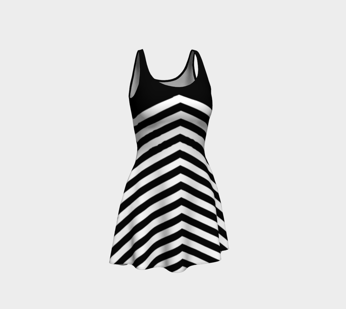 Stripes Collection - Triangle Stripes - Black & White preview #1