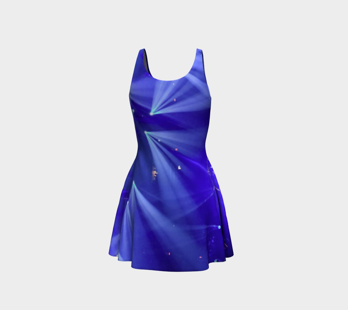 Aperçu de Blue and White Flare Dress #3