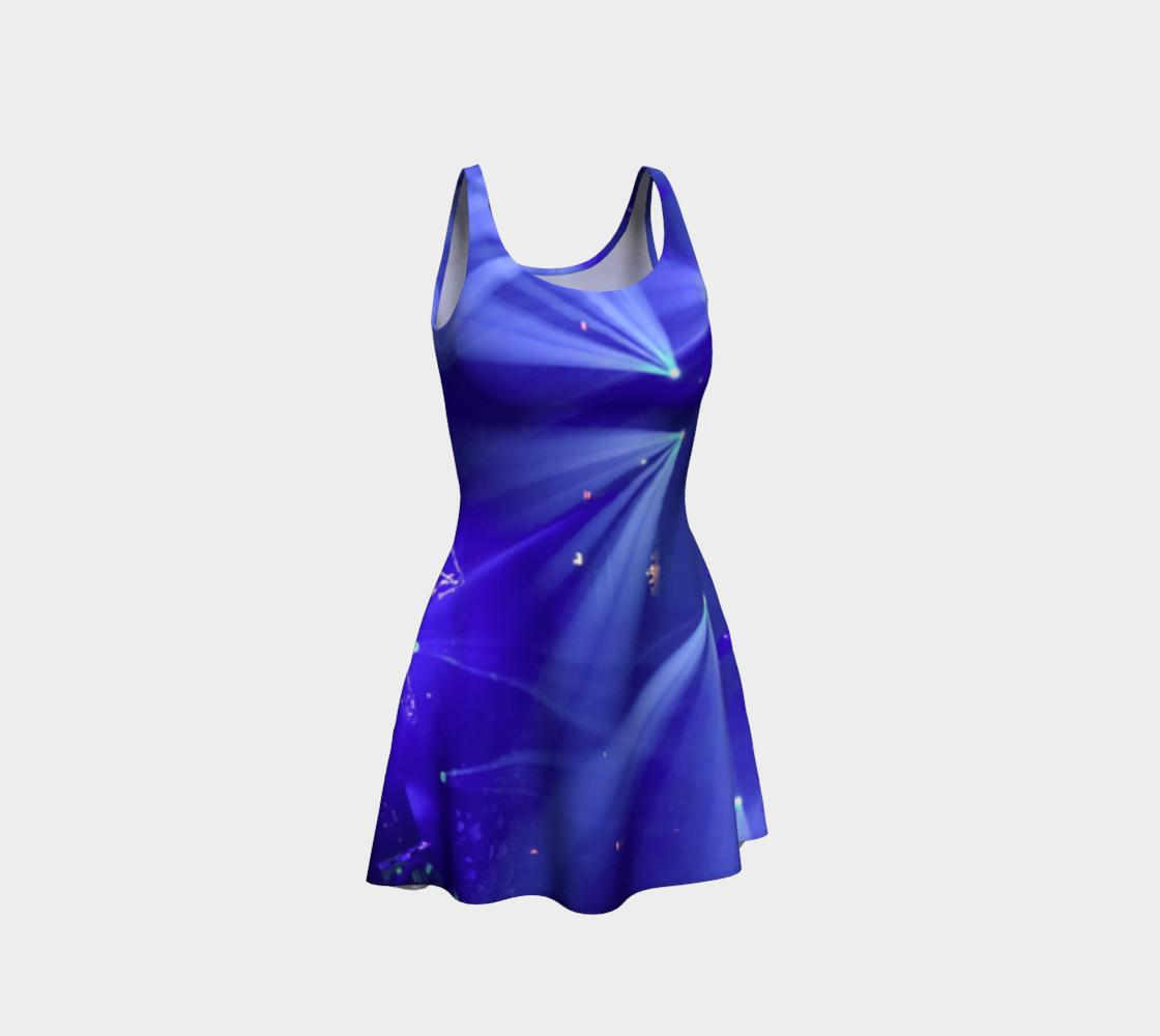 Aperçu de Blue and White Flare Dress #1