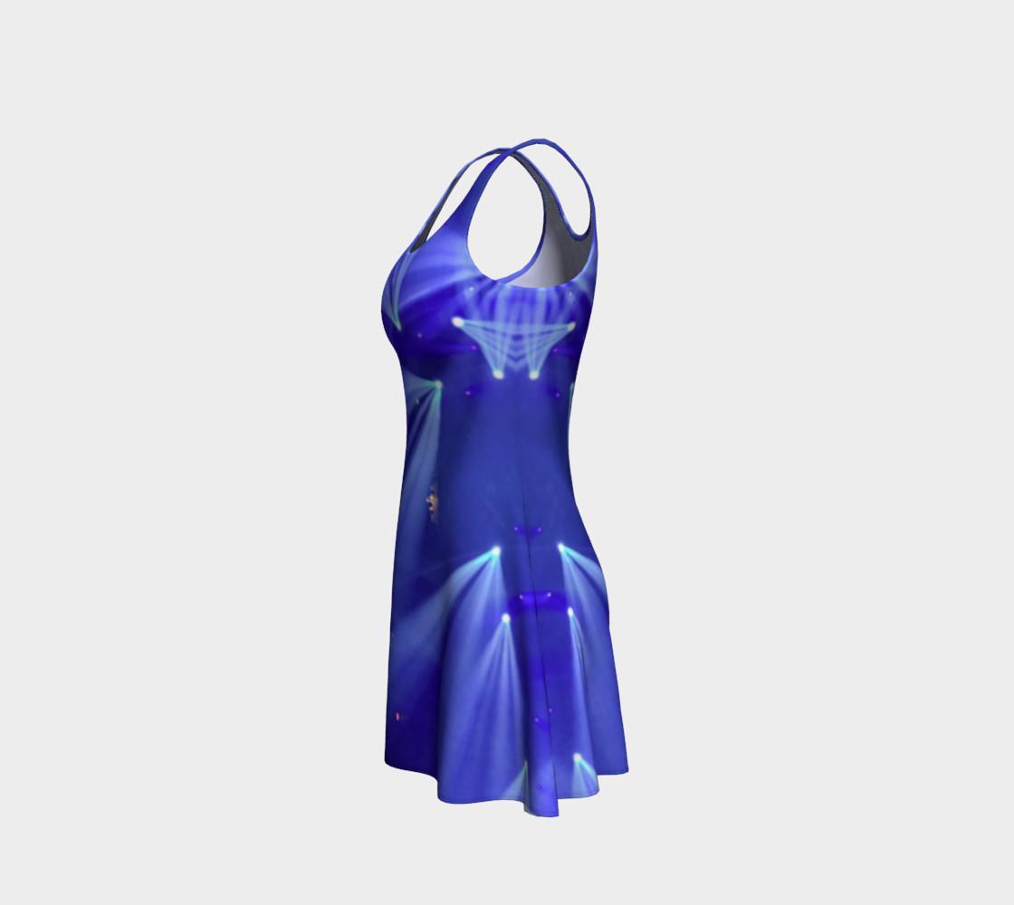 Aperçu de Blue and White Flare Dress #2
