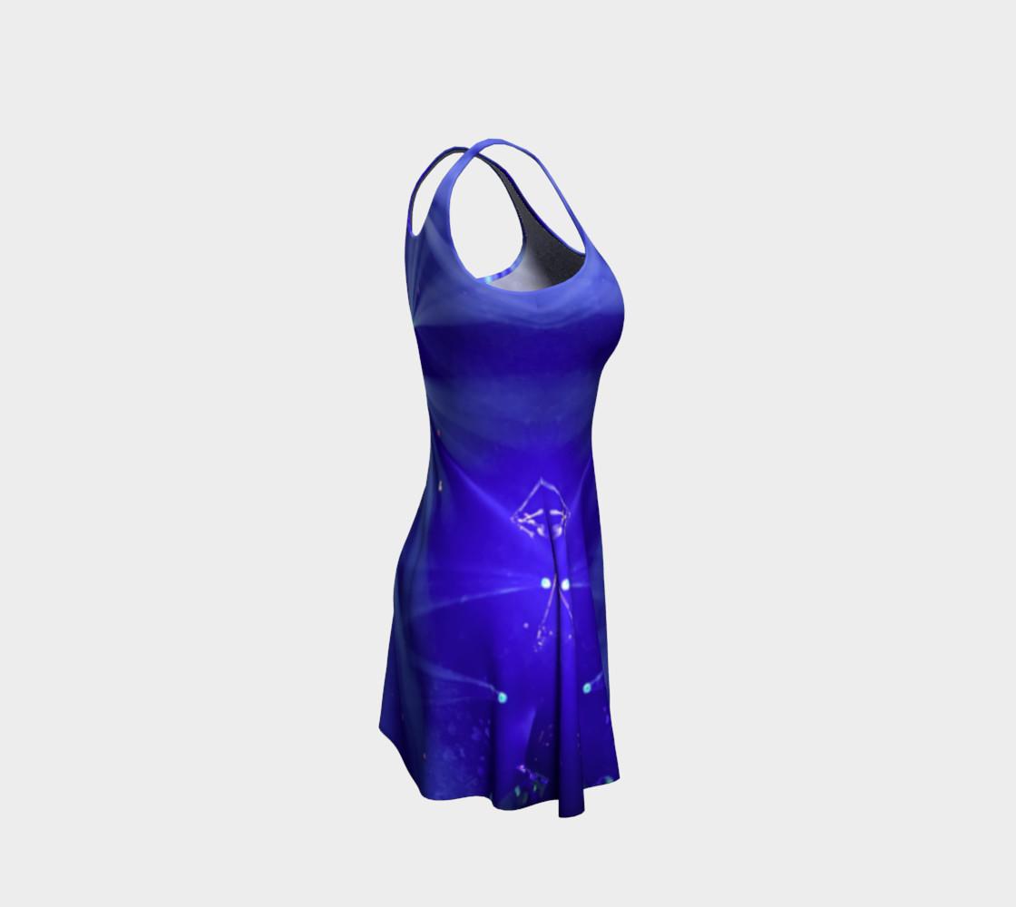 Aperçu de Blue and White Flare Dress #4
