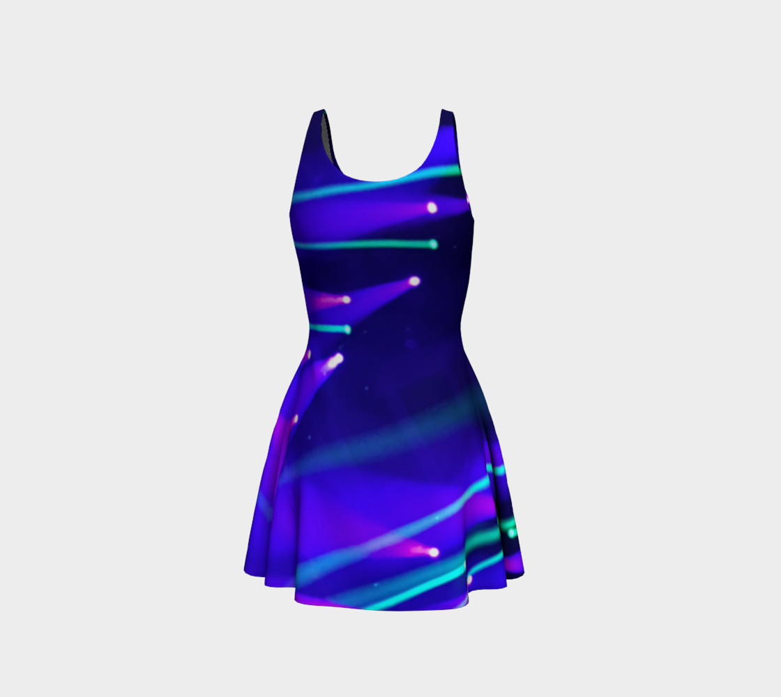 Blue and Purple Flare Dress preview #3