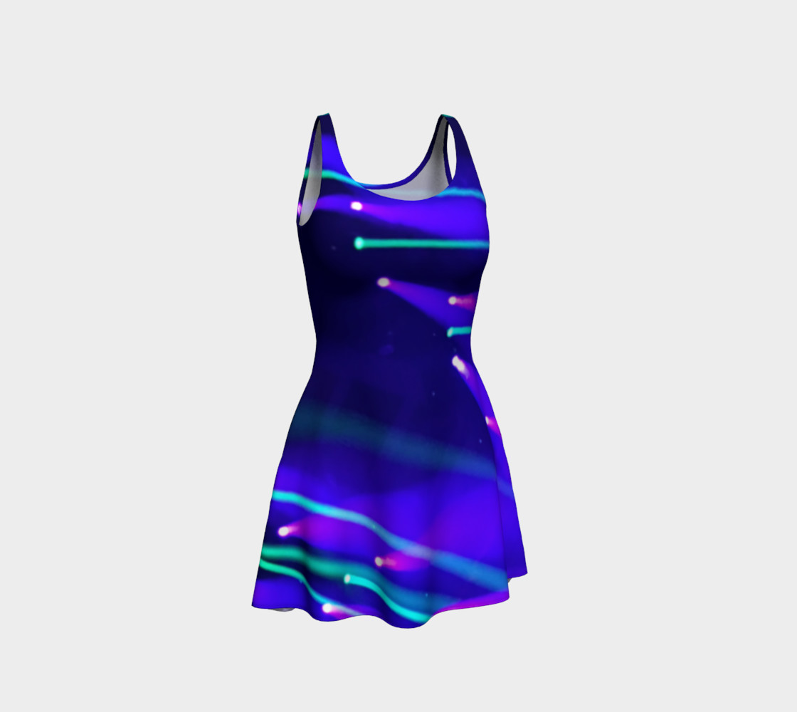 Blue and Purple Flare Dress preview #1