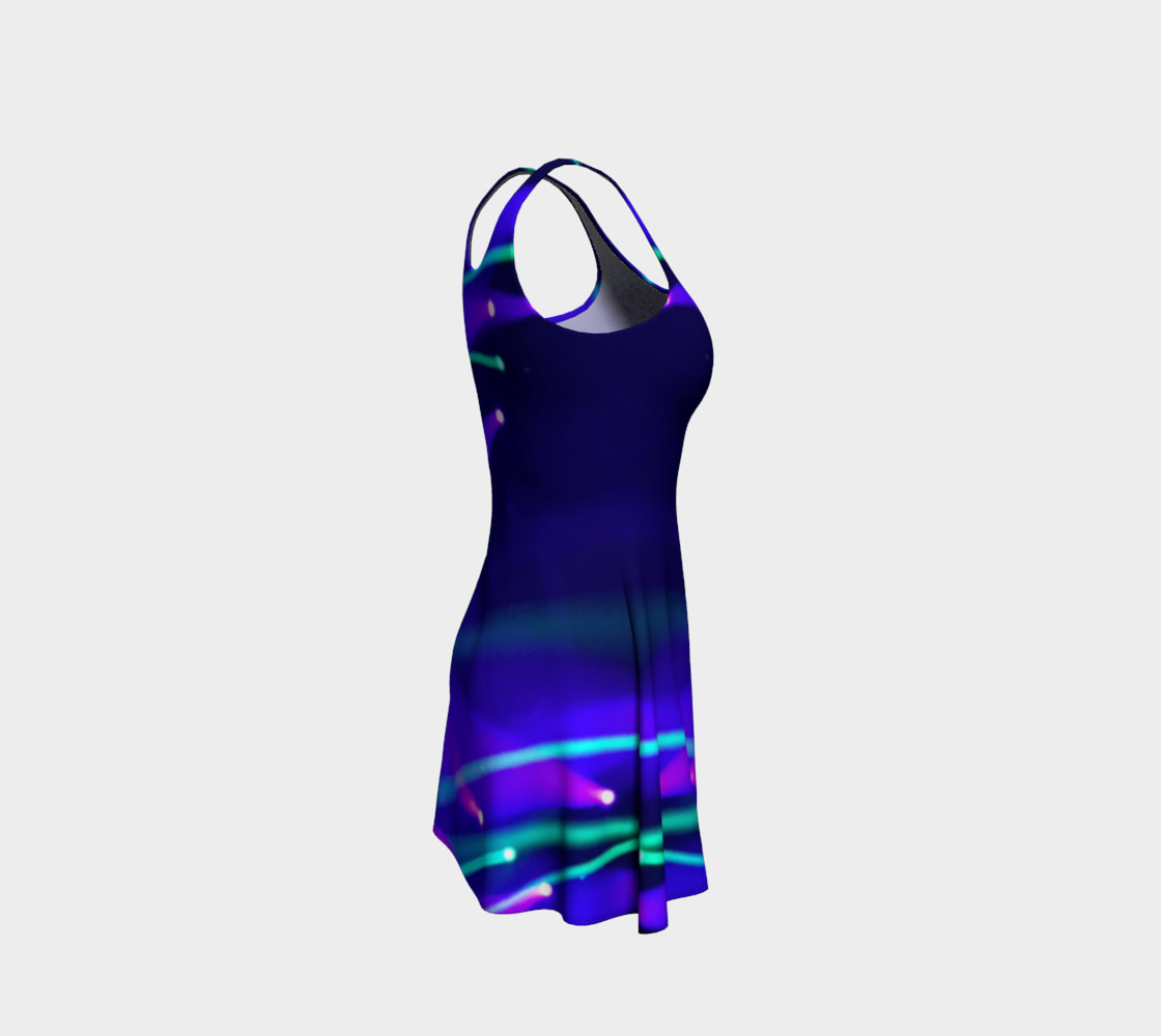 Blue and Purple Flare Dress preview #4