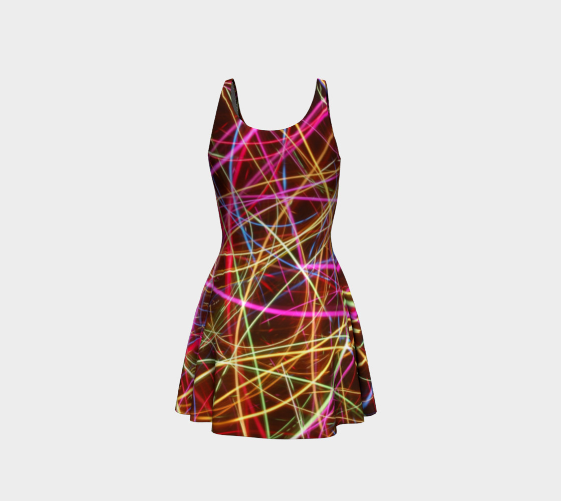 Crazy Lights Flare Dress preview #3