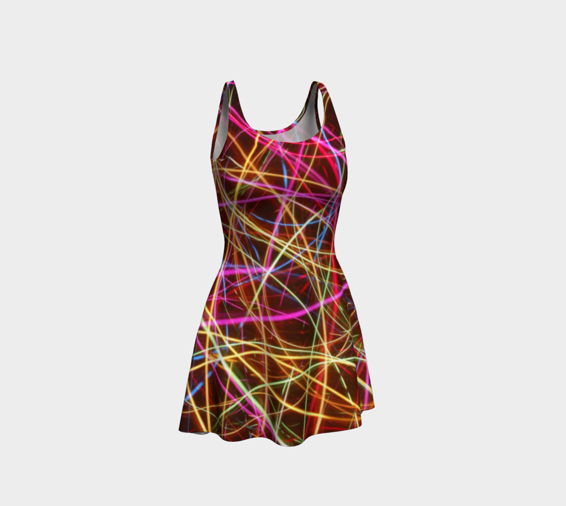 Crazy Lights Flare Dress preview #1