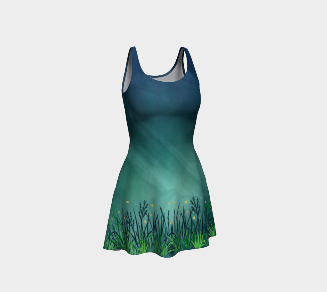 Midnight Fireflies Flare Dress preview #1
