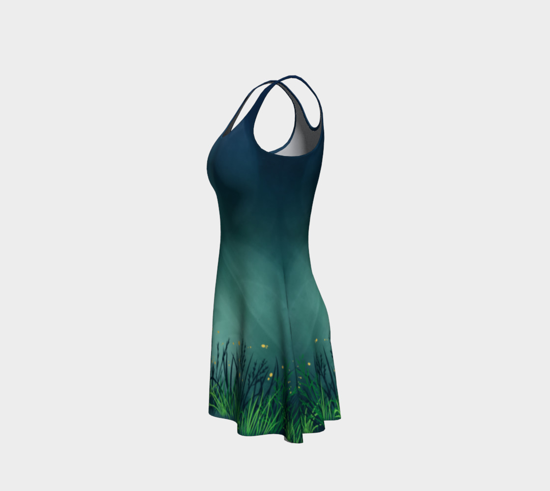 Midnight Fireflies Flare Dress preview #2