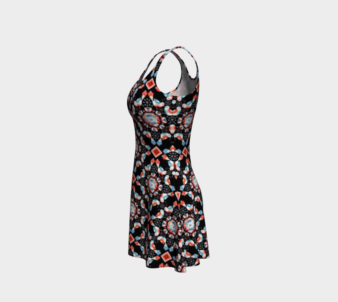 Aperçu de Folkloric Lovebirds Fitted Dress #2