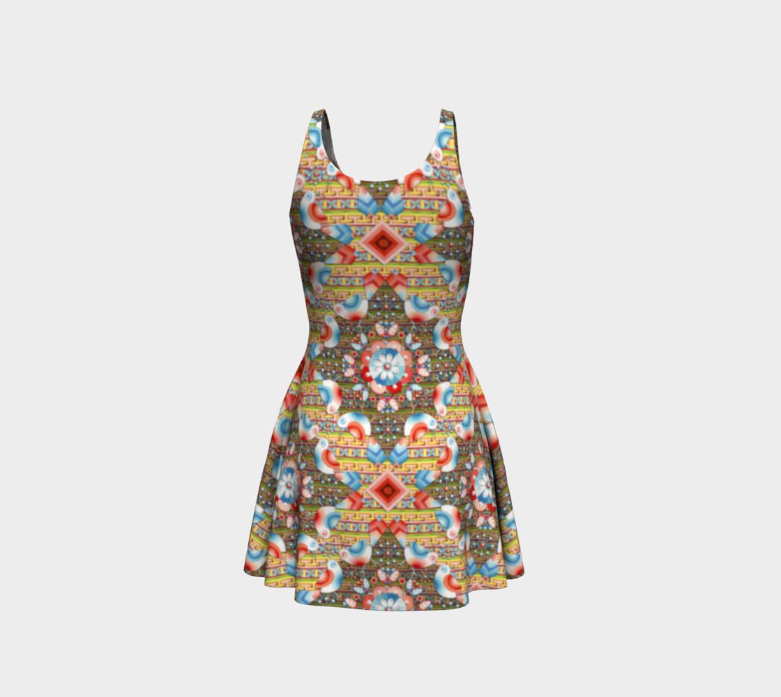 Heraldic Lovebird Flare Dress preview #3