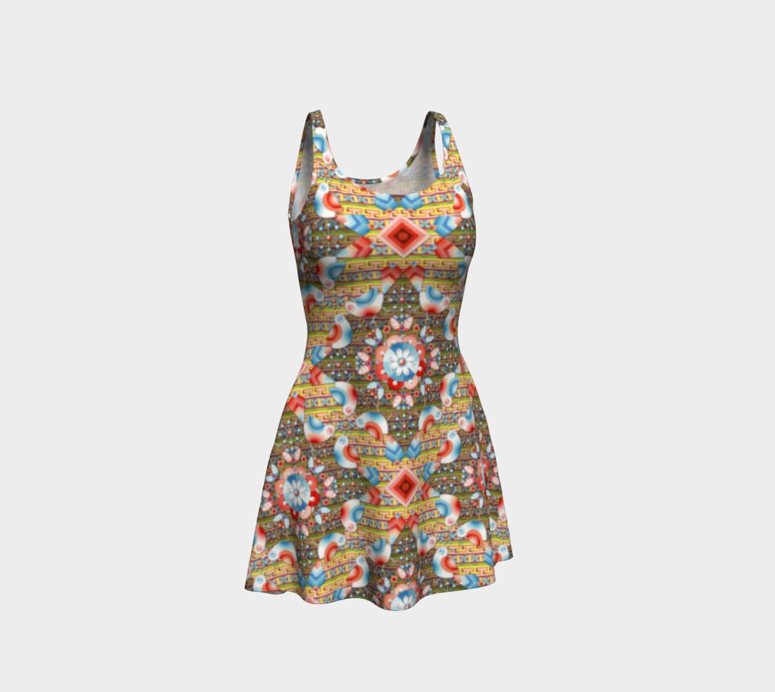 Heraldic Lovebird Flare Dress preview #1