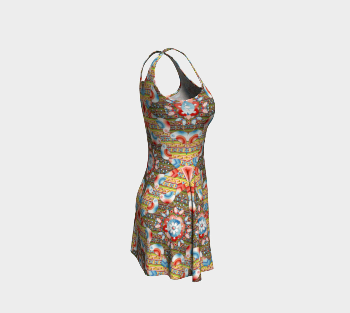 Heraldic Lovebird Flare Dress preview #4