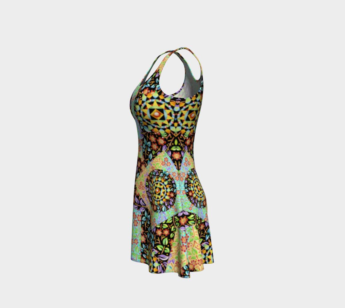 Aperçu de Filigree Floral Patchwork Flare Dress #2