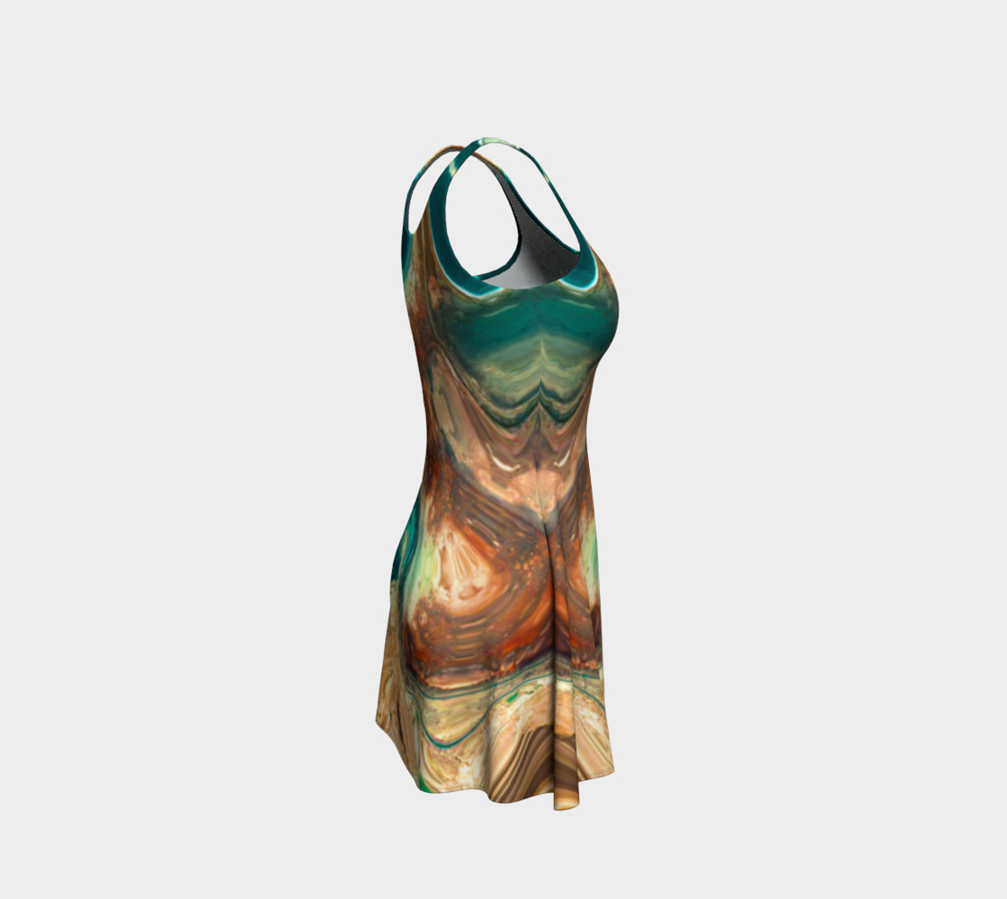 The Sea Flared Dress preview #4