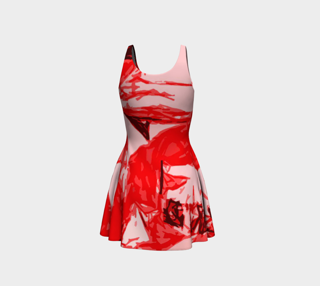 Red Hot Flare Dress preview #3