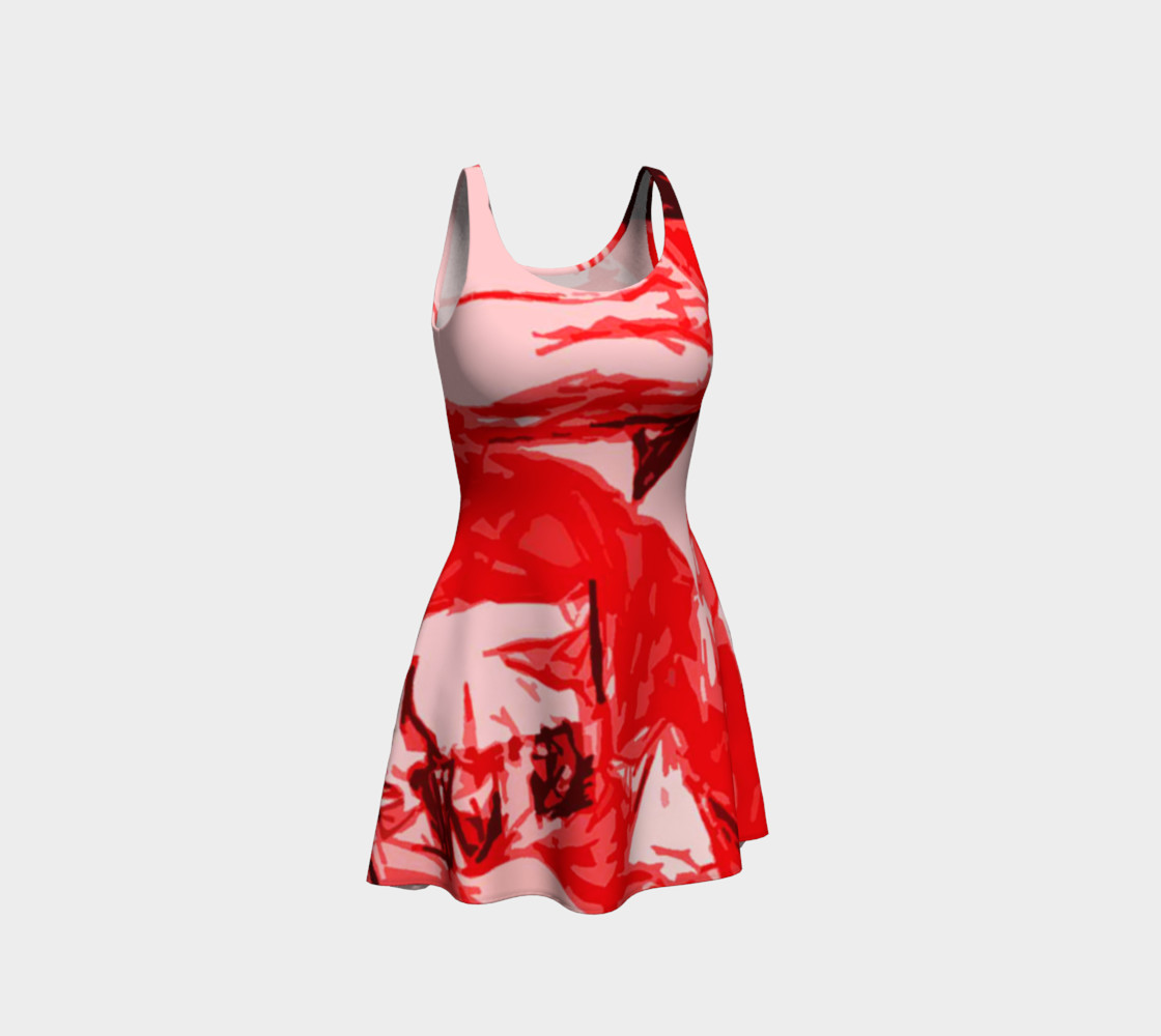 Red Hot Flare Dress preview #1