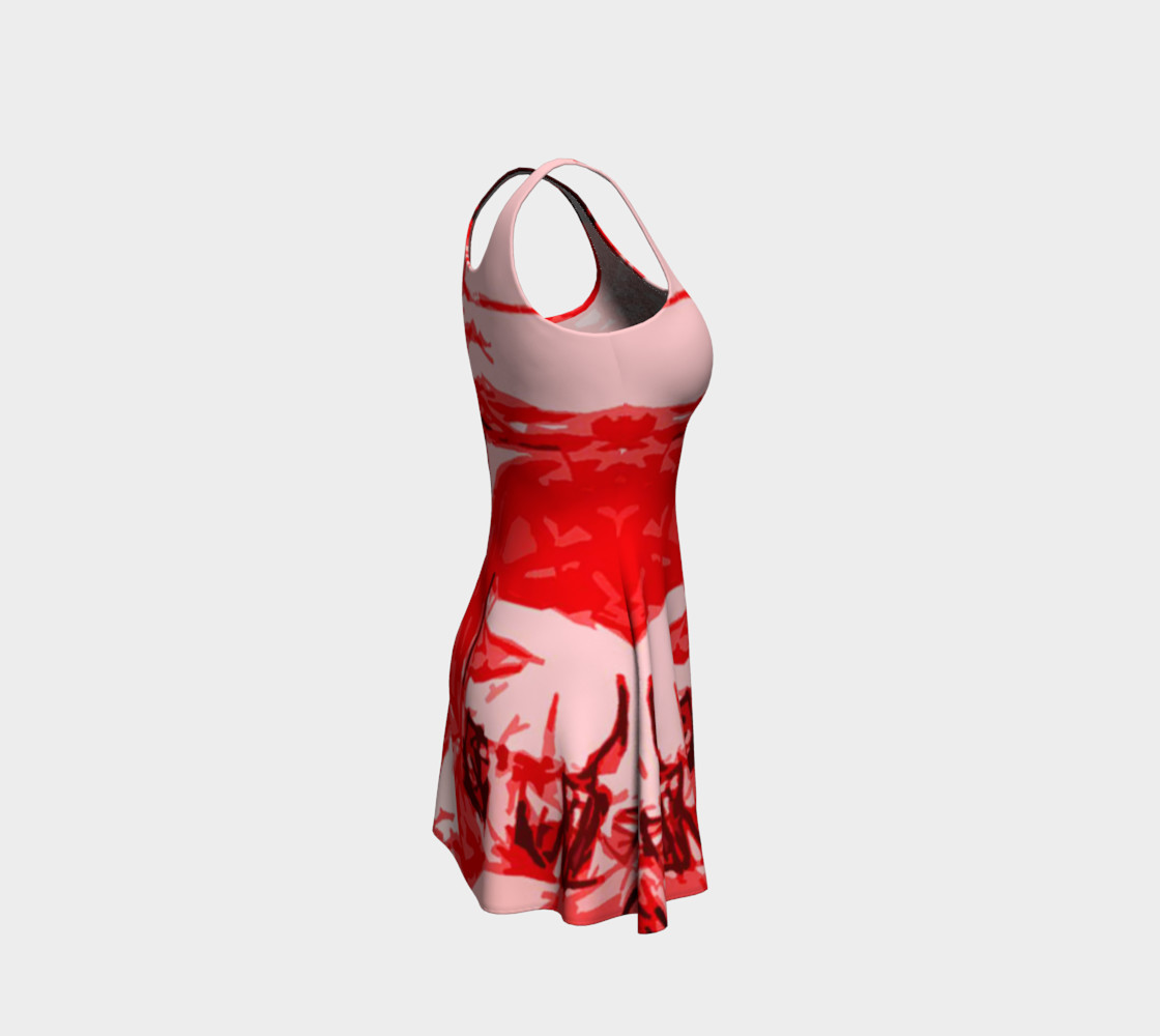 Red Hot Flare Dress preview #4