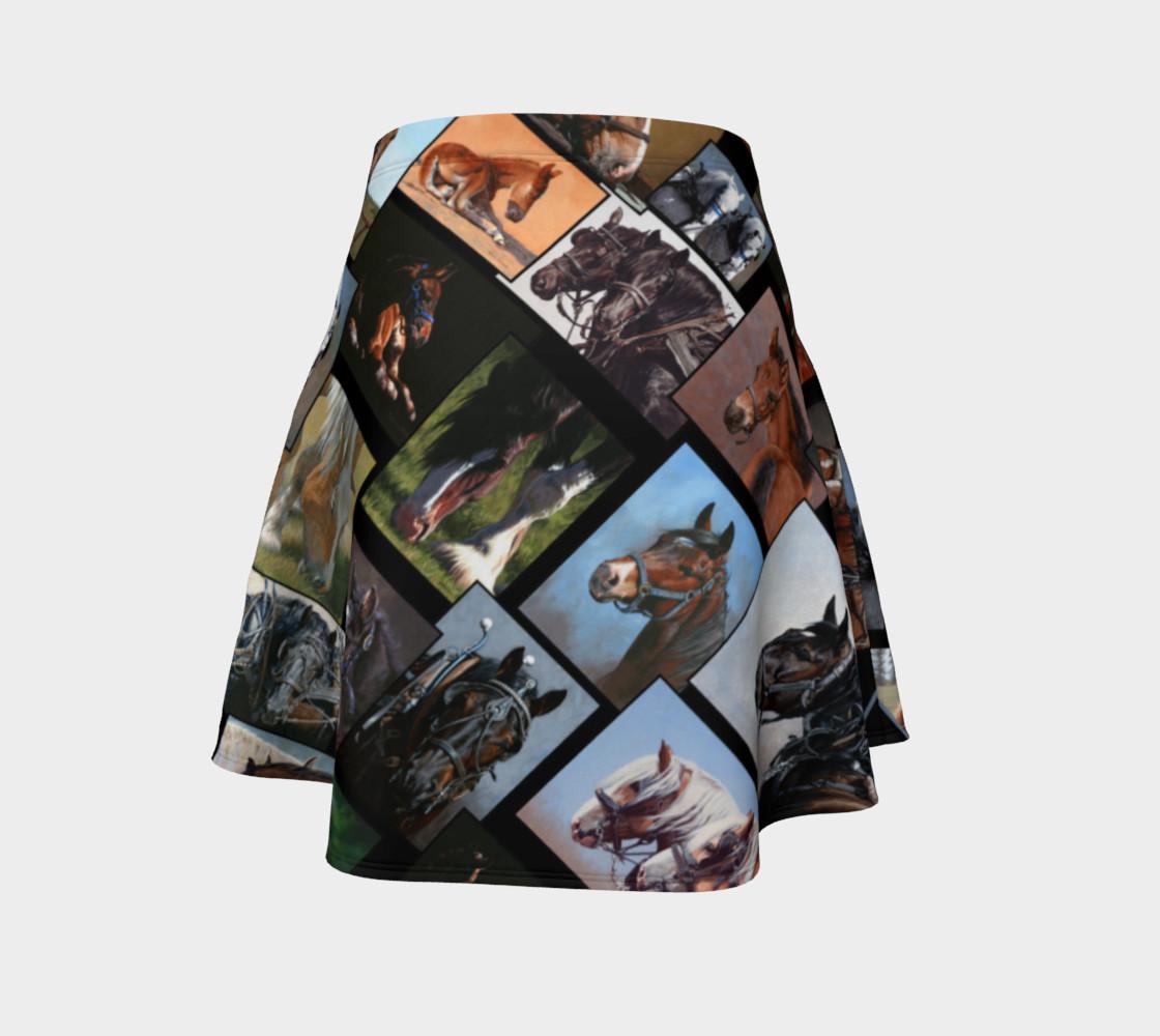 Horses Flared Skirt preview #4