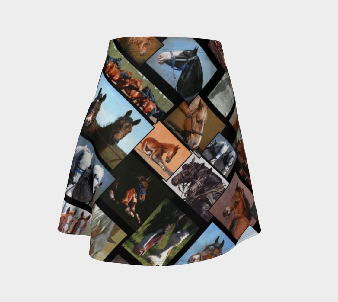 Horses Flared Skirt preview #1