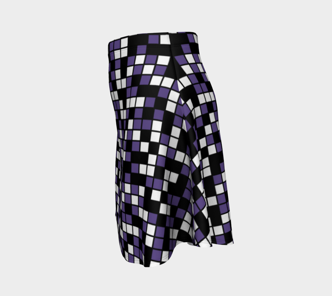 Aperçu de Ultra Violet Purple, Black, and White Random Mosaic Squares #2