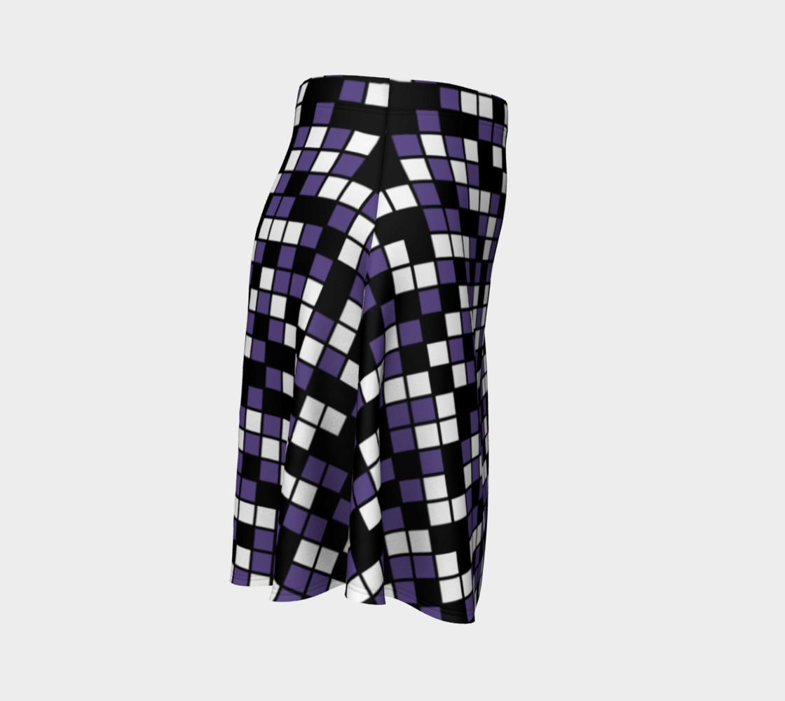 Aperçu de Ultra Violet Purple, Black, and White Random Mosaic Squares #3