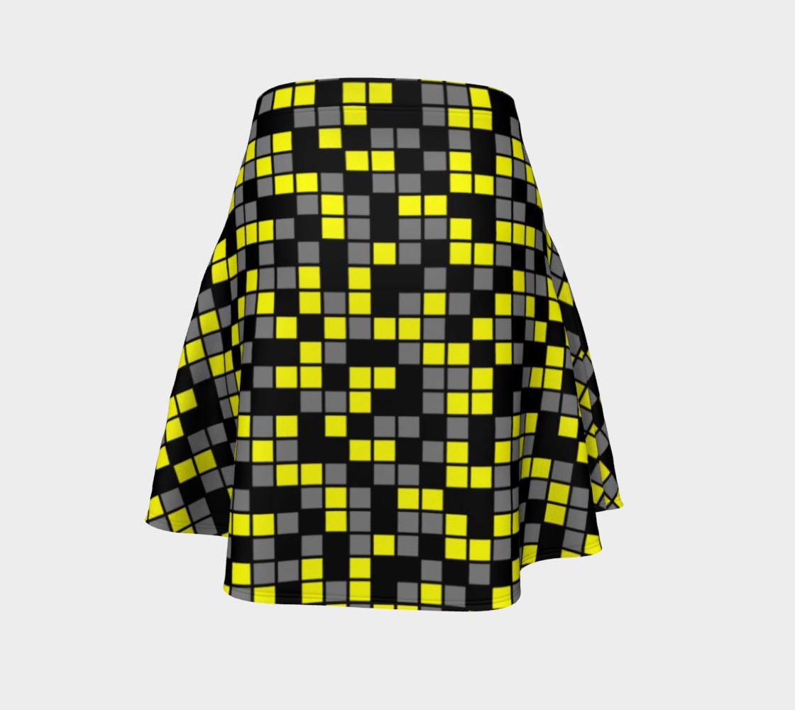 Aperçu de Yellow, Black, and Medium Grey Random Mosaic Squares #4