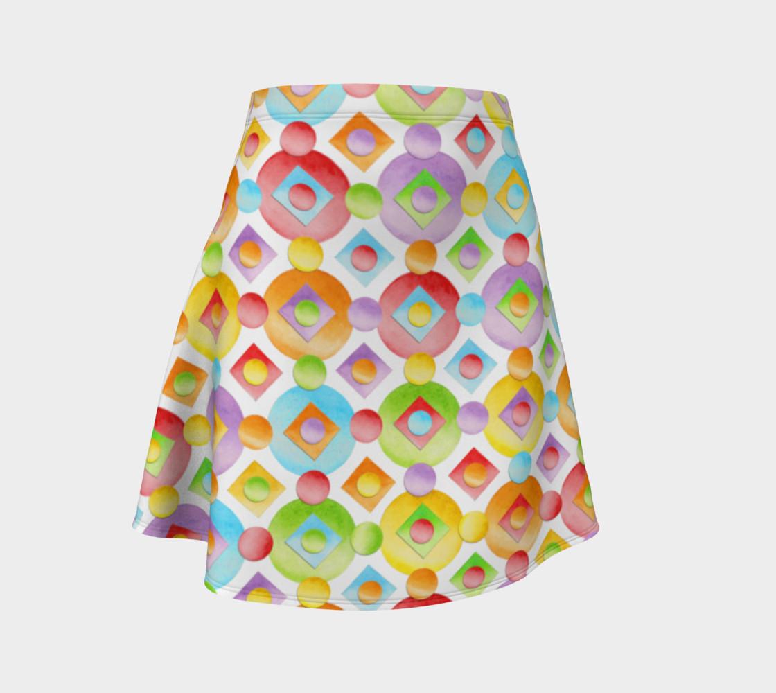 Aperçu de Happy Rainbow Dots Flare Skirt #1