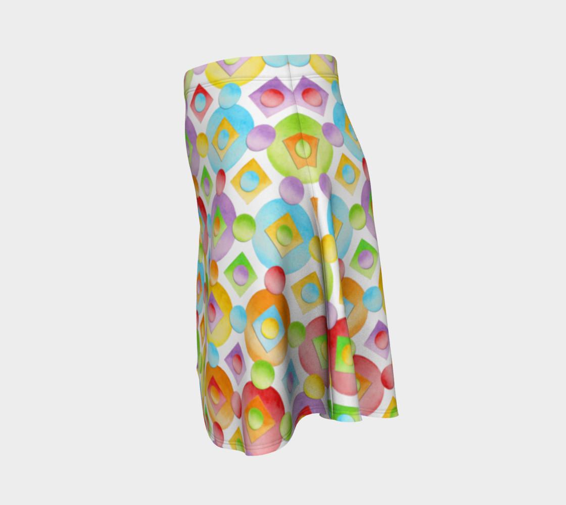 Aperçu de Happy Rainbow Dots Flare Skirt #2