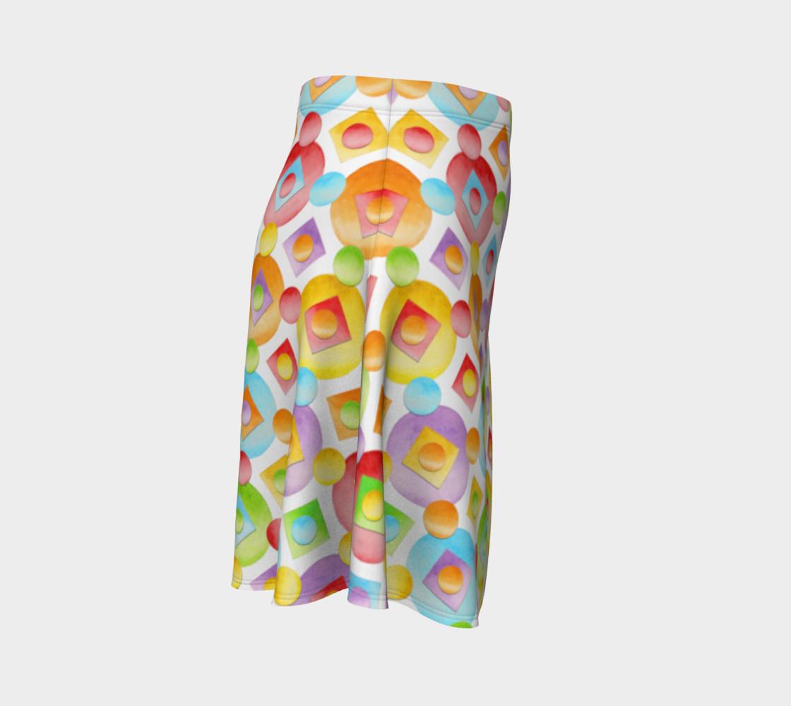 Aperçu de Happy Rainbow Dots Flare Skirt #3