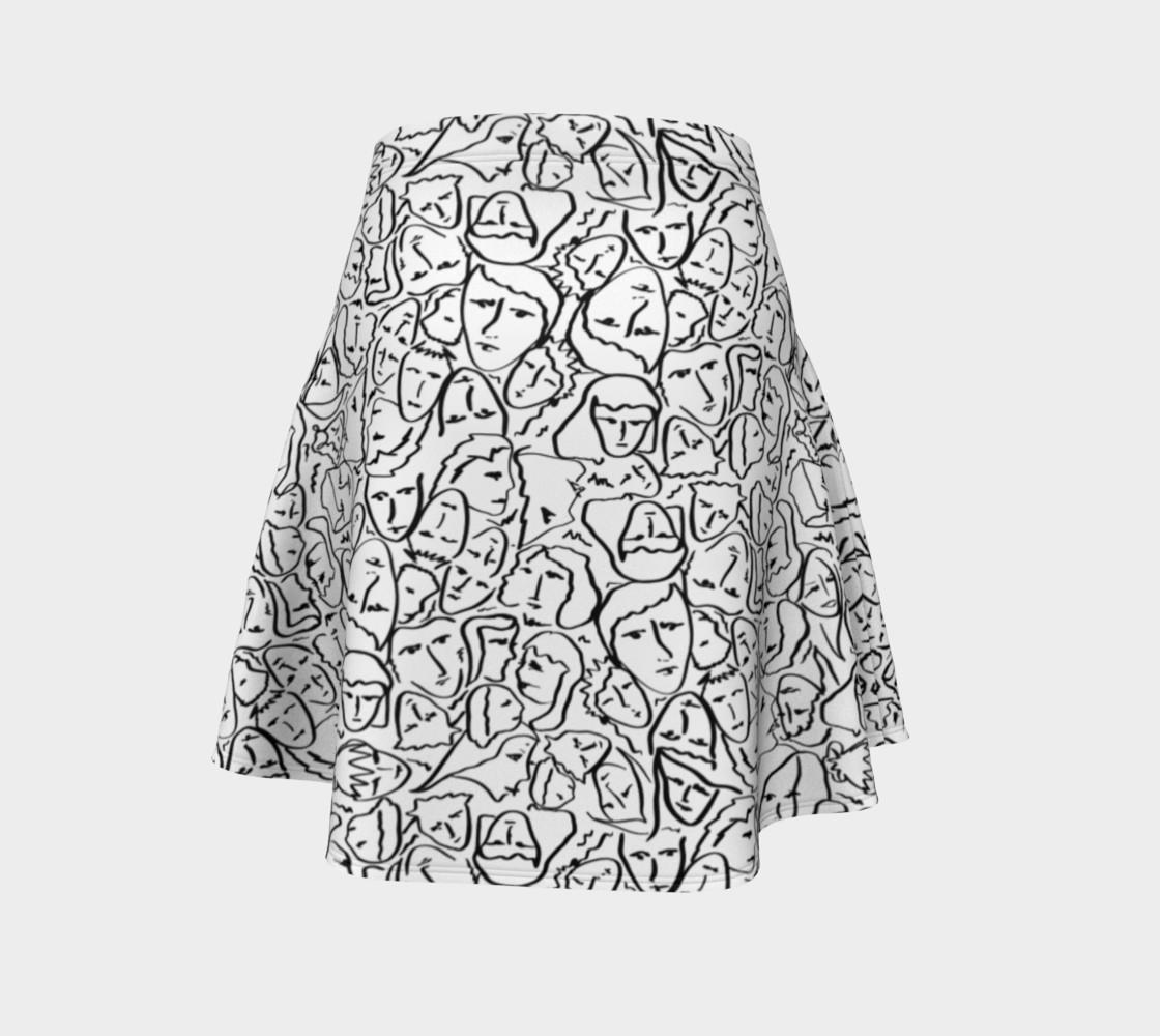 Aperçu de Elio's Shirt Faces in Black Outlines on White #4