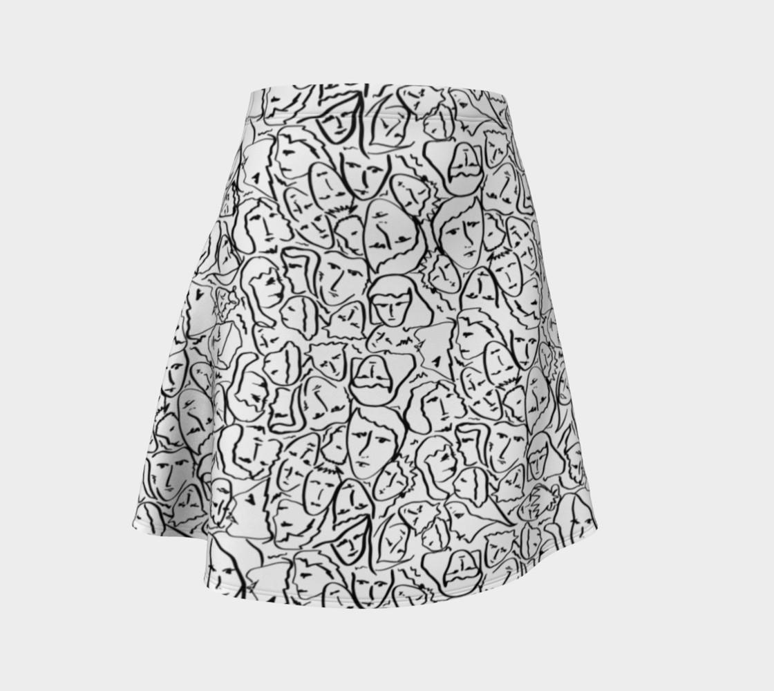 Aperçu de Elio's Shirt Faces in Black Outlines on White #1