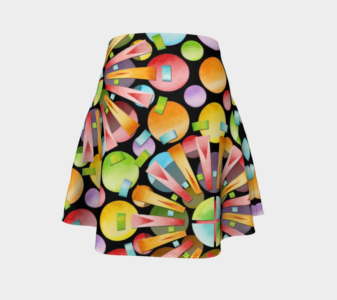 Aperçu de Rainbow Dots Sunburst Flare Skirt placement #4