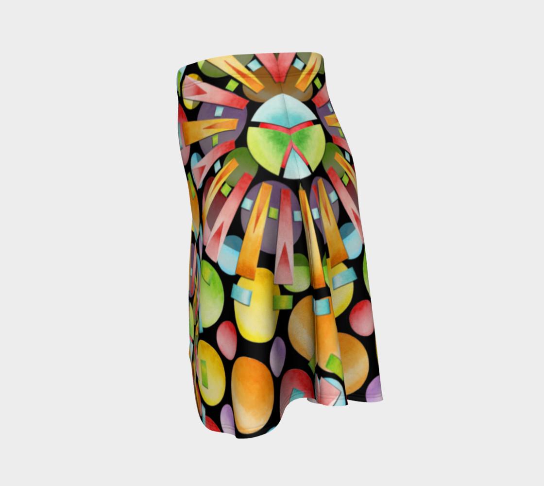 Aperçu de Rainbow Dots Sunburst Flare Skirt placement #2