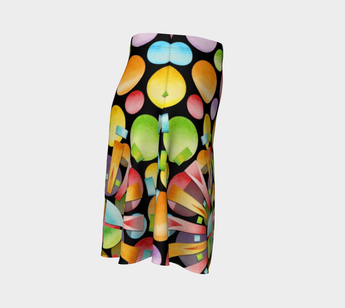 Aperçu de Rainbow Dots Sunburst Flare Skirt placement #3