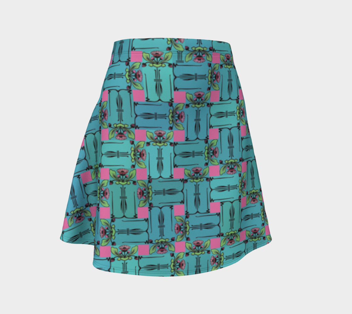 Charming Weave Flare Skirt preview #1